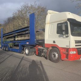 2012 DAF XF SUPER SPACE WITH TRANSPORTER ENGINEERING VAN CARRIER