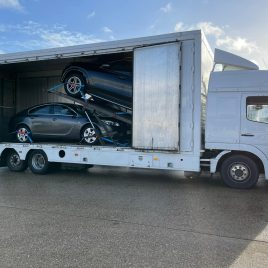 MERCEDES 1528L 20700 GROSS 6X2 COVERED 2 CAR TRANSPORTER IMMACULATE