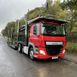 65 PLATE DAF CF460 6X2 TESTED SEPT 22 WITH LOHR 11 CAR EUROPEAN 4 MT